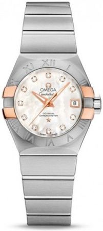Omega Constellation Automatic Chronometer 27mm  Women's Watch 123.20.27.20.55.004