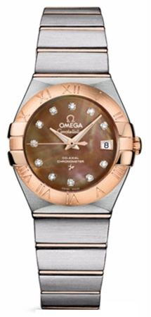 Omega Constellation Automatic Chronometer 27mm  Women's Watch 123.20.27.20.57.001