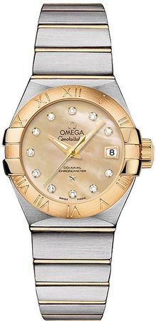 Omega Constellation Brushed Chronometer 27mm  Women's Watch 123.20.27.20.57.002
