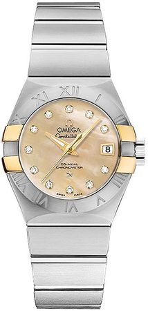 Omega Constellation Brushed Chronometer 27mm  Women's Watch 123.20.27.20.57.003