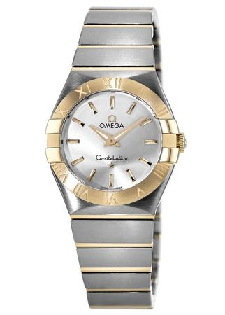 Omega Constellation Brushed Quartz 27mm  Women's Watch 123.20.27.60.02.002