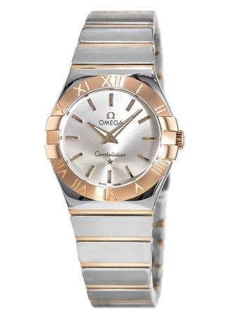 Omega Constellation Polished Quartz 27mm  Women's Watch 123.20.27.60.02.003