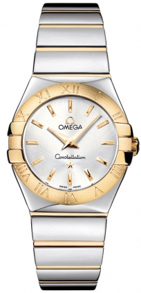 Omega Constellation Polished Quartz 27mm  Women's Watch 123.20.27.60.02.004