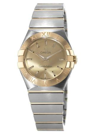 Omega Constellation Brushed Quartz 27mm  Women's Watch 123.20.27.60.08.001