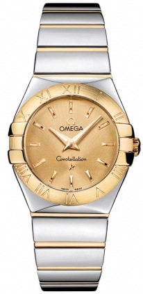 Omega Constellation Polished Quartz 27mm  Women's Watch 123.20.27.60.08.002