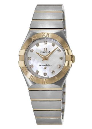 Omega Constellation Brushed Quartz 27mm  Women's Watch 123.20.27.60.55.002