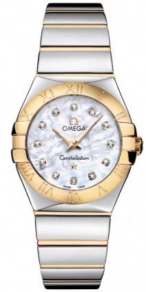 Omega Constellation Polished Quartz 27mm  Women's Watch 123.20.27.60.55.004