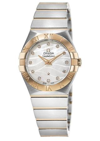 Omega Constellation Brushed Quartz 27mm  Women's Watch 123.20.27.60.55.006