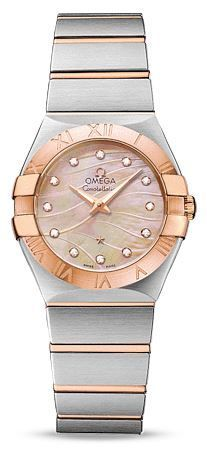 Omega Constellation Brushed Quartz 27mm  Women's Watch 123.20.27.60.57.002