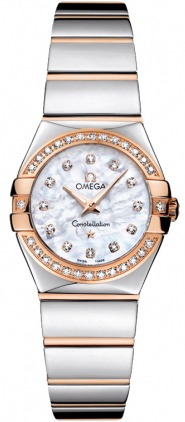Omega Constellation Polished Quartz 24mm  Women's Watch 123.25.24.60.55.005
