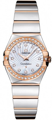 Omega Constellation Polished Quartz 24mm  Women's Watch 123.25.24.60.55.006