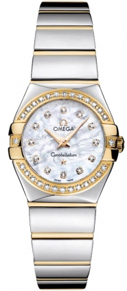 Omega Constellation Polished Quartz 24mm  Women's Watch 123.25.24.60.55.007