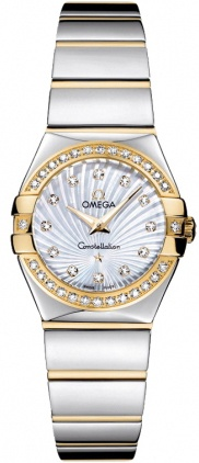 Omega Constellation Polished Quartz 24mm  Women's Watch 123.25.24.60.55.008
