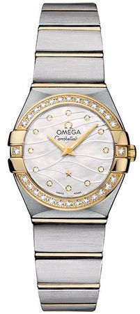 Omega Constellation Brushed Quartz 24mm  Women's Watch 123.25.24.60.55.011