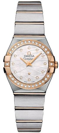 Omega Constellation Brushed Quartz 24mm  Women's Watch 123.25.24.60.55.012