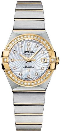 Omega Constellation Brushed Chronometer 27mm  Women's Watch 123.25.27.20.55.002
