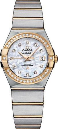 Omega Constellation Brushed Chronometer 27mm  Women's Watch 123.25.27.20.55.003