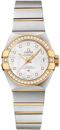 Omega Constellation Brushed Chronometer 27mm  Women's Watch 123.25.27.20.55.004