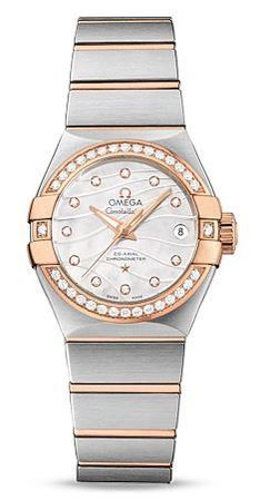 Omega Constellation Polished Quartz 27mm  Women's Watch 123.25.27.20.55.005