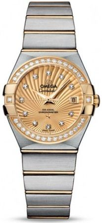 Omega Constellation Automatic Chronometer 27mm  Women's Watch 123.25.27.20.58.001