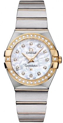 Omega Constellation Brushed Quartz 27mm  Women's Watch 123.25.27.60.55.003
