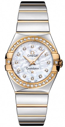 Omega Constellation Polished Quartz 27mm  Women's Watch 123.25.27.60.55.007
