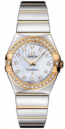 Omega Constellation Polished Quartz 27mm  Women's Watch 123.25.27.60.55.008