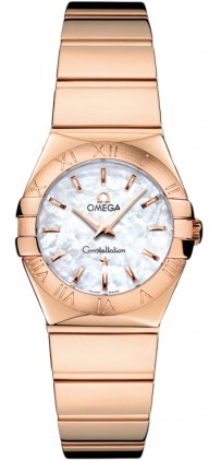 Omega Constellation Polished Quartz 24mm  Women's Watch 123.50.24.60.05.003