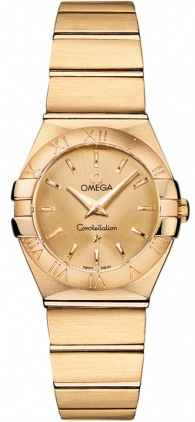 Omega Constellation Brushed Quartz 24mm  Women's Watch 123.50.24.60.08.001