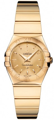 Omega Constellation Polished Quartz 24mm  Women's Watch 123.50.24.60.08.002