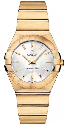 Omega Constellation Brushed Quartz 27mm  Women's Watch 123.50.27.60.02.002