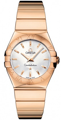 Omega Constellation Polished Quartz 27mm  Women's Watch 123.50.27.60.02.003