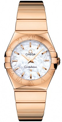 Omega Constellation Polished Quartz 27mm  Women's Watch 123.50.27.60.05.003