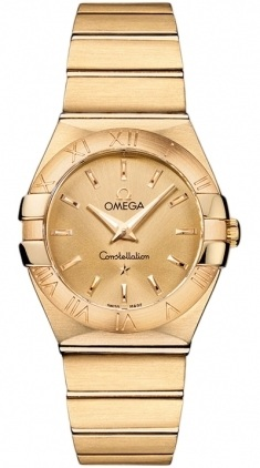 Omega Constellation Brushed Quartz 27mm  Women's Watch 123.50.27.60.08.001
