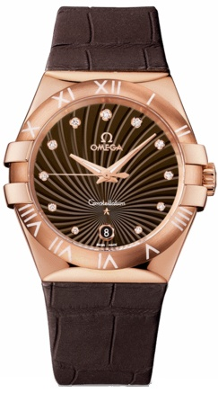 Omega Constellation Quartz 35mm  Women's Watch 123.53.35.60.63.001