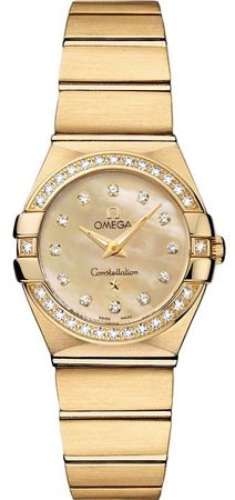 Omega Constellation Brushed Quartz 24mm  Women's Watch 123.55.24.60.57.001