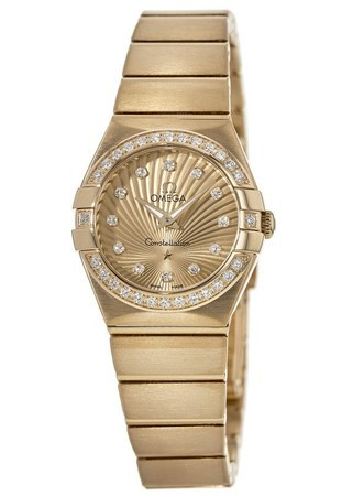 Omega Constellation Brushed Quartz 24mm  Women's Watch 123.55.24.60.58.001