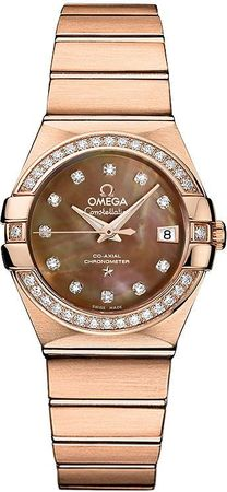 Omega Constellation Brushed Chronometer 27mm  Women's Watch 123.55.27.20.57.001