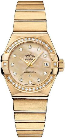 Omega Constellation Brushed Chronometer 27mm  Women's Watch 123.55.27.20.57.002