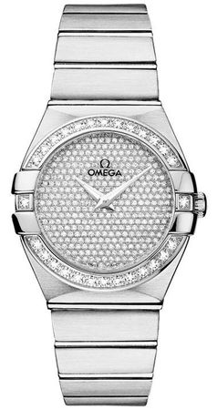 Omega Constellation Brushed Quartz 27mm  Women's Watch 123.55.27.60.99.001