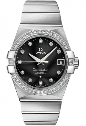 Omega Constellation Automatic Chronometer 38mm  Men's Watch 123.55.38.21.51.001