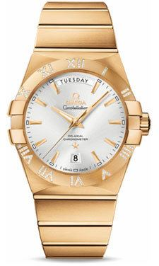 Omega Constellation Chronometer Day Date 38mm  Men's Watch 123.55.38.22.02.002