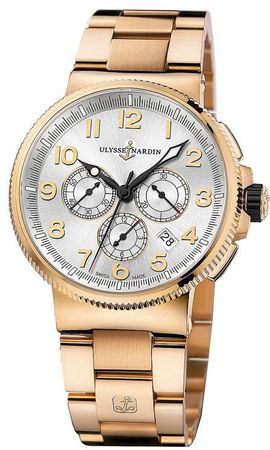 Ulysse Nardin Marine Chronograph Manufacture 43mm  Men's Watch 1506-150-8m/61