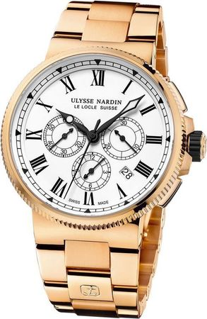 Ulysse Nardin Marine Chronograph Manufacture 43mm  Men's Watch 1506-150-8m/LE