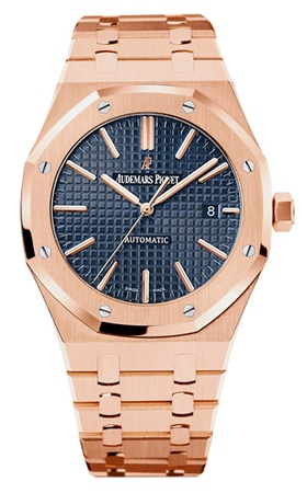 Audemars Piguet Royal Oak Automatic 41mm Blue Dial 18kt Rose Gold Men's Watch 15400OR.OO.1220OR.03