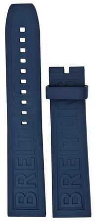 Breitling Rubber 22-20mm Blue Replacement Diver Pro III Men's Strap 158S