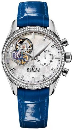 Zenith El Primero  Mother of Pearl Diamond Dial Women's Watch 16.2150.4062/81.C754