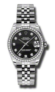 Rolex Datejust 31   Women's Watch 178384-BKDJ