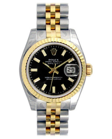 Rolex Datejust 26   Women's Watch 179173-BKSJ