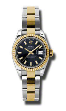 Rolex Datejust 26   Women's Watch 179173-BKSO